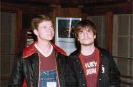 Tim Perry and Jim Dunne pondering something – '84