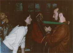 Diane (Janecki) Schouten with Alan Young - retreat '84