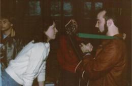 Diane (Janecki) Schouten with Alan Young – retreat '84