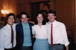 Ken Saiki, Mark Peters, Diane (Janecki) Schouten, Tim Schwaar – 1984 dance