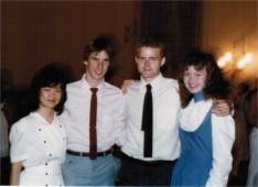 Bill Scheid, Tom Goelzer, Anne Bodmer - 1984 dance