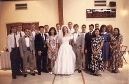 Urbana Chapter contingent at Risinger wedding